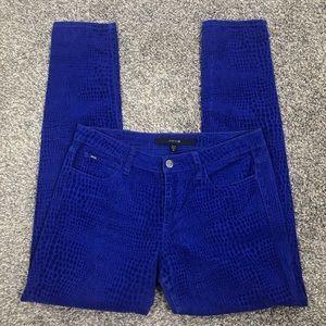 Joe's Jeans textured suede ultra blue print sz 28
